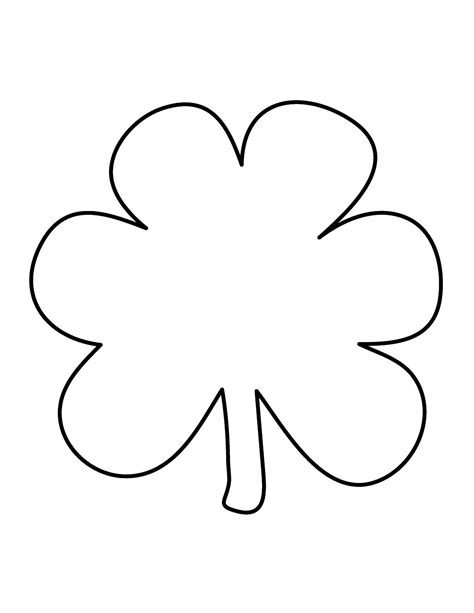Shamrock Outline Clipart by Top 85 Shamrock Clip Free Clipart Spot