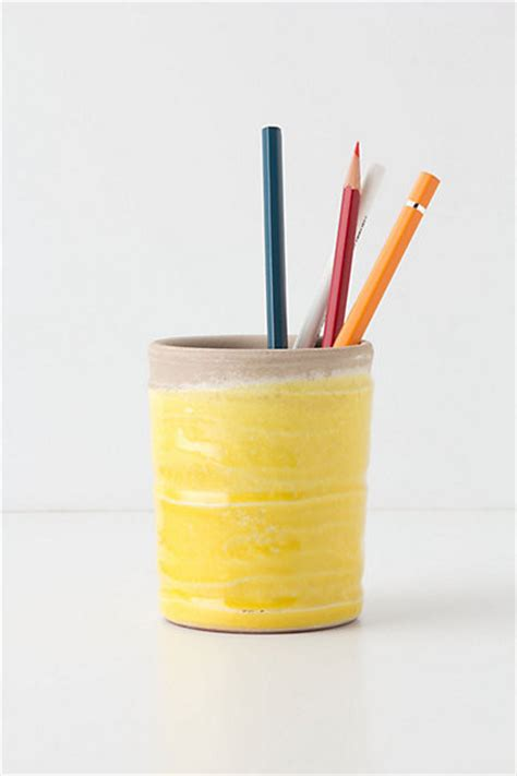yellow desk accessories plunged pencil cup yellow contemporary desk