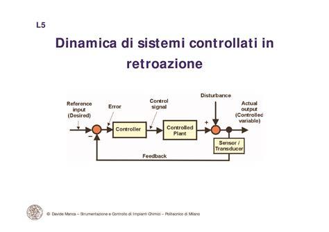impianti chimici dispense controllo in retroazione dinamica di sistemi di