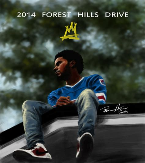 2014 forest hills drive j cole songs reviews j cole 2014 forest hills drive painting by yellaboy23 on