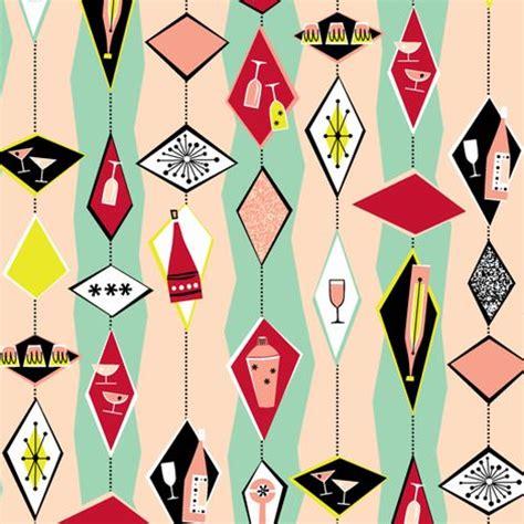 50s design 50s retro cocktail diamonds fabric pattern and design
