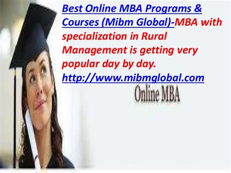 What Is Global Management Mba by Best Mba Programs Courses Mba With Specialization