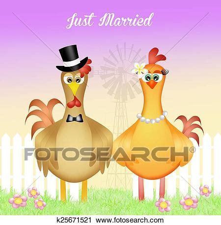 clipart sposi clipart gallo e gallina sposi k25671521 cerca