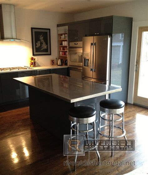 kitchen island stainless steel top stainless steel counter tops kitchen island bar