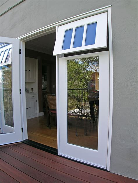 french door awning spotlight on sidelights jarvis architects