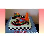 Torta Decorada Carrera De Autos  Lut Creaciones Tortas