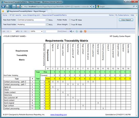 requirements traceability matrix template requirements traceability matrix report projects