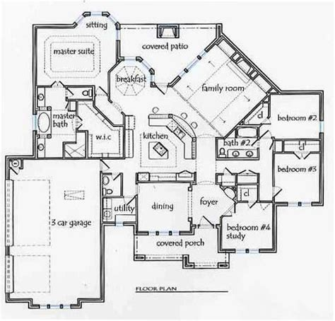 texas style floor plans texas house plans