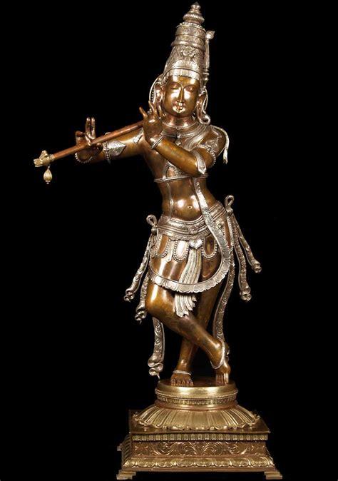 buddha statues or sculptures buddhist statue and hindu sold three metal gopal krishna statue 44 quot 60b15 hindu