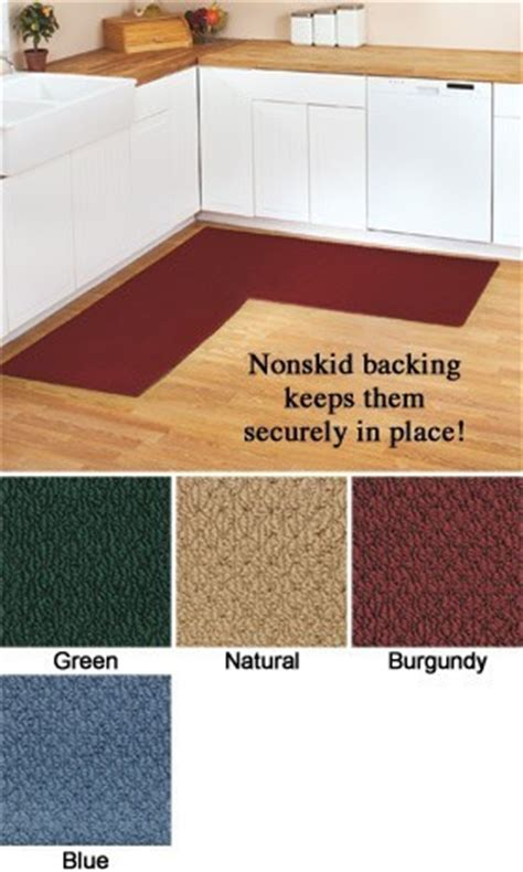Corner Runner Rug Berber Corner Kitchen Non Skid Runner Rug Select From 4 Colors 68 034 X 68 034 New Ebay