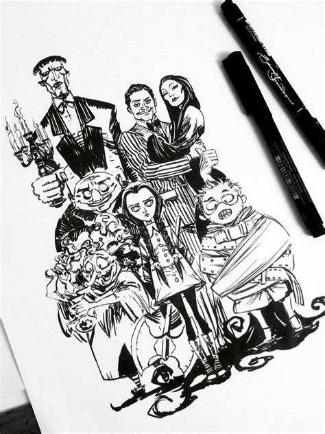 the addams family by edufrancisco on deviantart