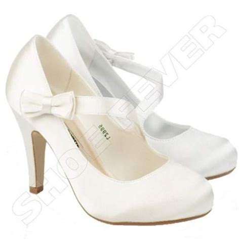 Womens White Wedding Shoes womens wedding shoes heels satin bridal bridesmaid