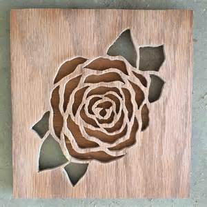 Walnut Nightstand Rose Cutout I Made Woodworking