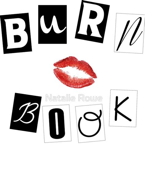 window on a burning books quot burn book quot stickers by natalie rowe redbubble
