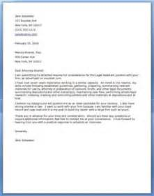 cover letter legal assistant letter of recommendation