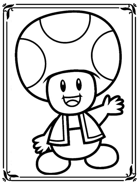 mario mushroom coloring pages realistic coloring pages