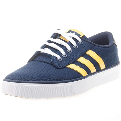 adidas originals kiel mens trainers leather textile navy
