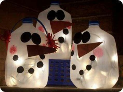 recycled milk jugs make snowmen baby sitting ideas