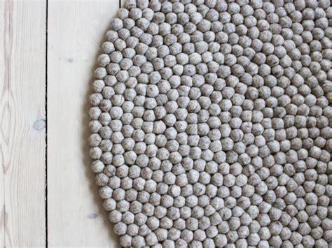 teppich petrol rund teppich rund grau filz harzite