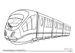 coloring page high speed train transport colouring pages