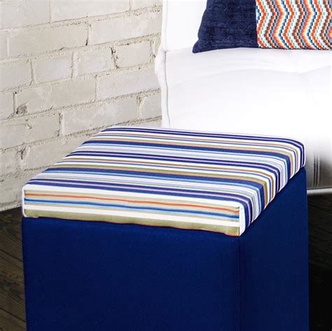 how to cover an ottoman with fabric ottoman top cover