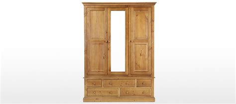 Pine Wardrobe With Drawers by Essentials Pine Wardrobe With Drawers Quercus Living
