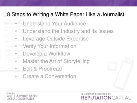 how to write a white paper how to write a white paper like a journalist webinar