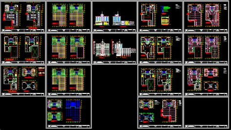 highrise convention hotel dwg block  autocad designs cad