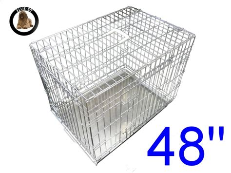 48 inch crate 48 inch ellie bo standard cage in silver only cages co uk