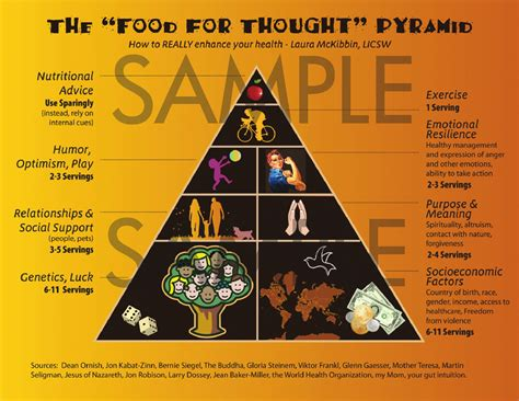 for food the food for thought pyramid the connection