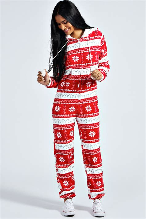 boohoo adult christmas novelty onesie onesie boohoo and pj