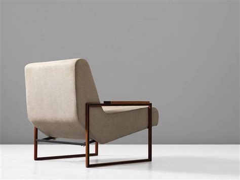 Lounge Upholstery Fabric Percival Lafer Lounge Chair In Mahogany And Fabric