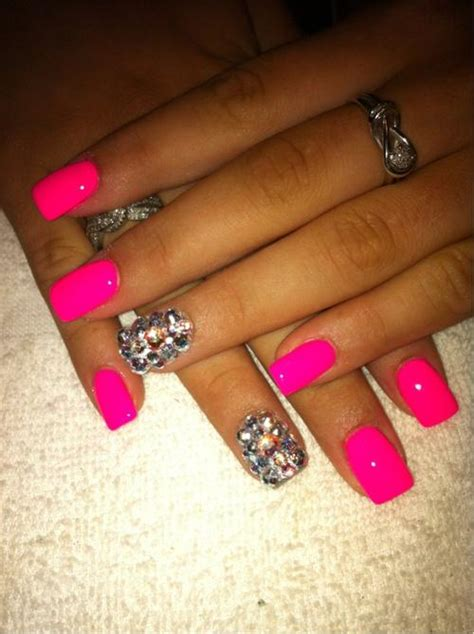 one finger nail different color pictures neon wedding one nail different color trend 1122245