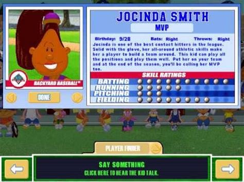 Backyard Baseball Characters Stats Let S Play Backyard Baseball 2003 Meet The Characters