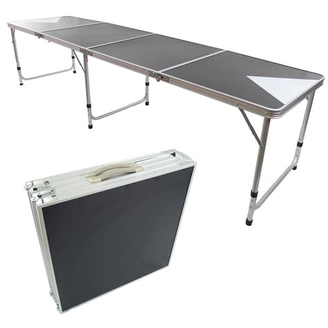 Folding Table With Handle Pong Aluminum Folding Table W Handle 8 Quot Bp 03 Easy Source Inc