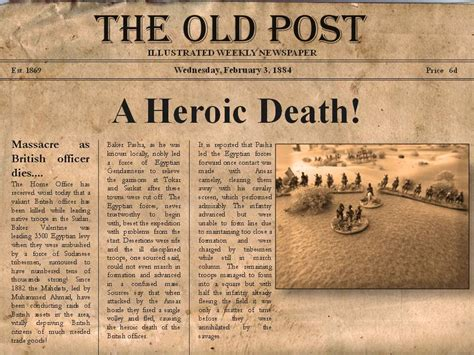 First In Peace First In War The Furstenburg The Editable Newspaper Template