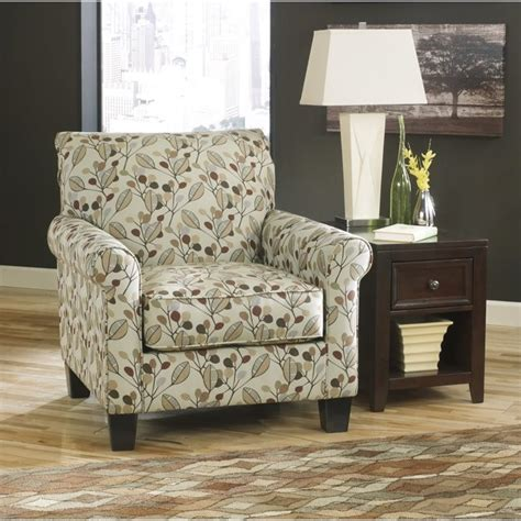 fabric accent chairs living room ashley danely fabric accent chair in dusk 3550021