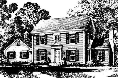 colonial plans small colonial saltbox house plans