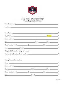 Registration Form Template Excel by Team Registration Form 2 Free Templates In Pdf Word
