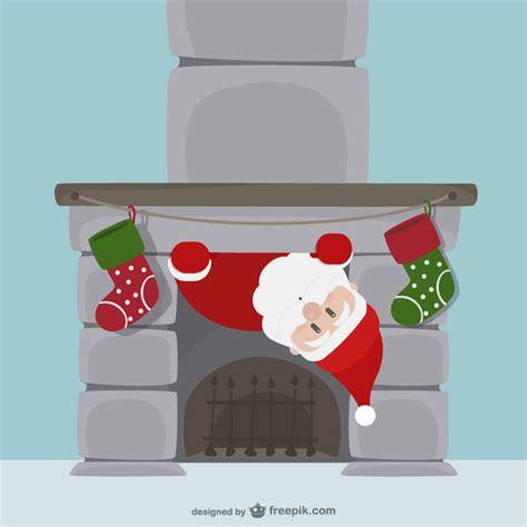 chimenea santa claus santa claus and chimney cartoon vector free download