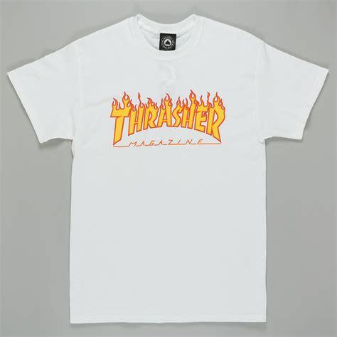 Tshirt Thrasher White thrasher magazine logo t shirt white available at