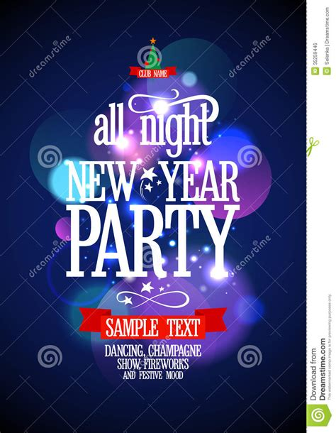 new year set design new year design with bokeh royalty free stock image