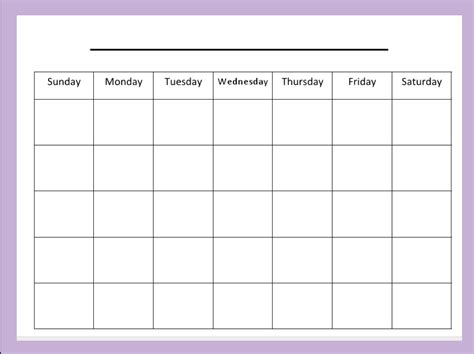 Blank Activity Calendar Template by Blank Activity Calendar Calendar Template 2016