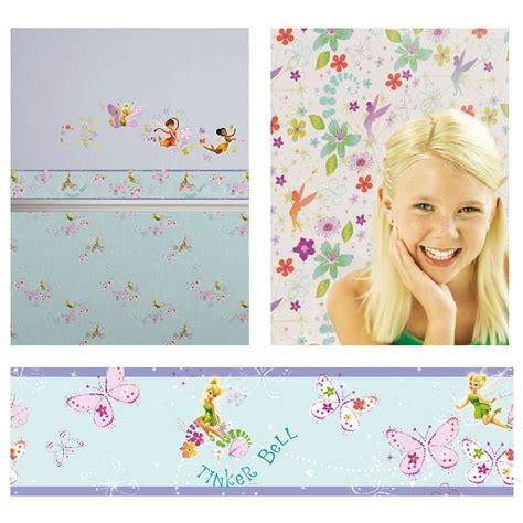bedroom wallpaper borders official disney fairies tink wallpaper and borders