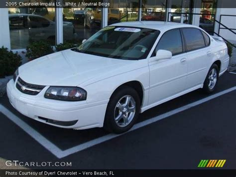 White And Black Ls by Black 2005 Chevrolet Impala Ls Neutral Beige Interior