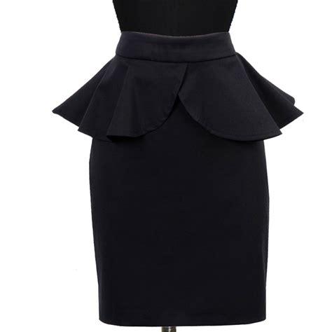 plus size black peplum pencil skirt elizabeth s custom
