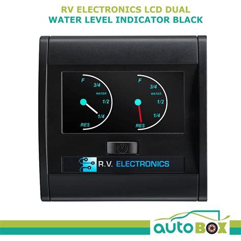 caravan black lcd dual  tank water level indicator