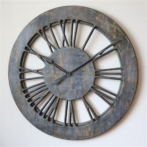 shabby chic wall clocks 40 quot large handmade grey shabby chic wall clock