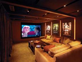 Home Theater Decorating Ideas by Small Modern Home Theater Ideas