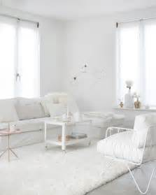 all white living room advertisement
